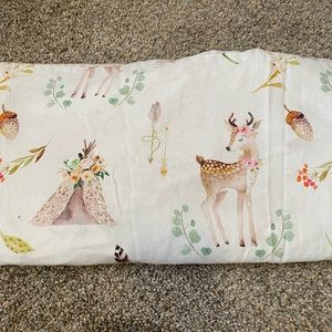 Baby crib skirt and pillow cover